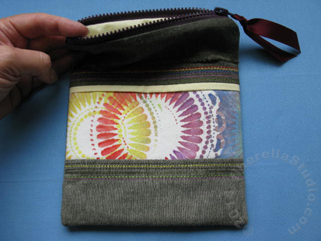 how to paint fabric how to sew a lined zipper case